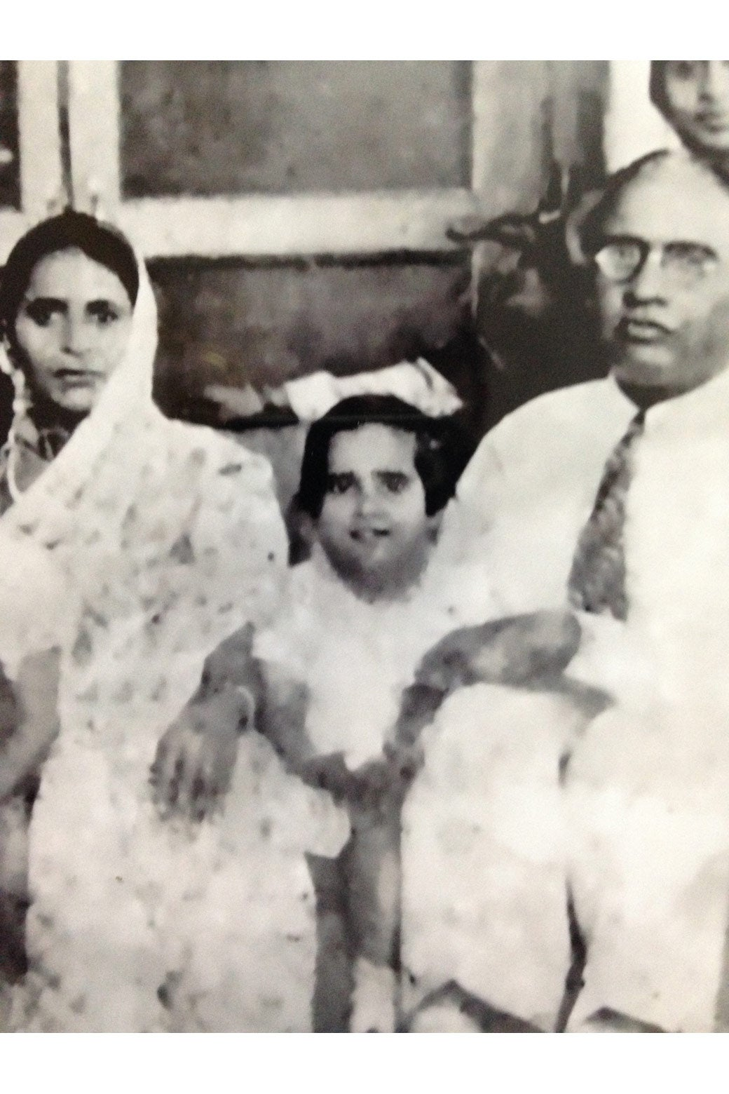 Usha Pahwa with her family.