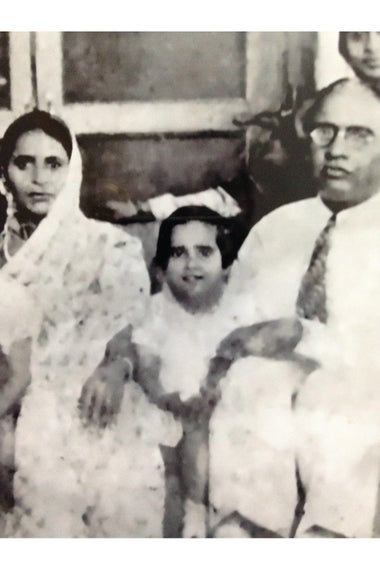 Usha Pahwa with her family.