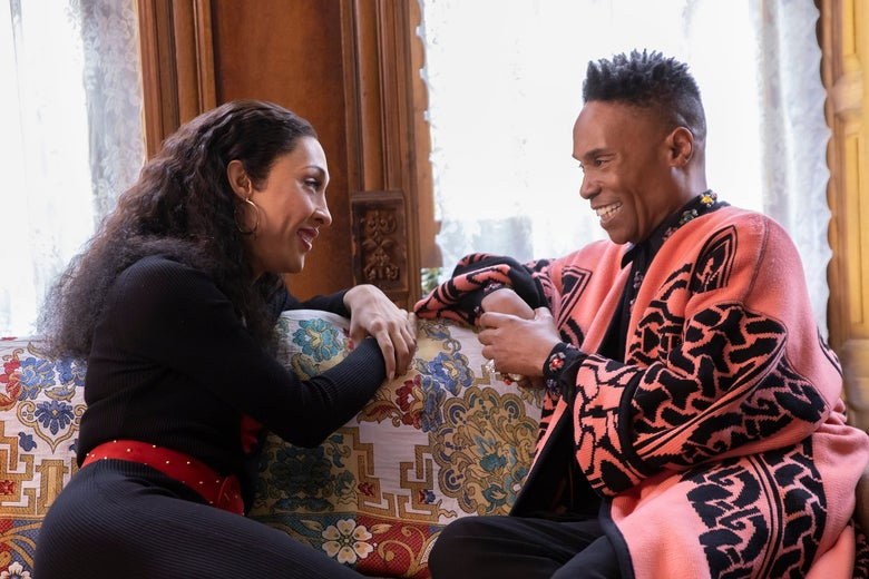 MJ Rodriguez and Billy Porter in Pose.