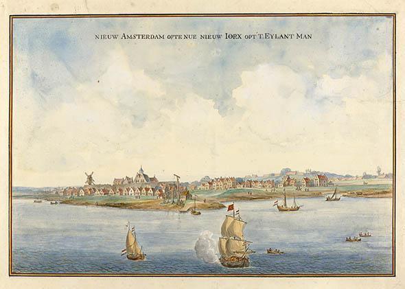 Image of Manhattan, circa 1660.