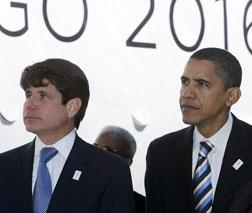 Rod Blagojevich and Barack Obama in spring 2007. Click image to expand.