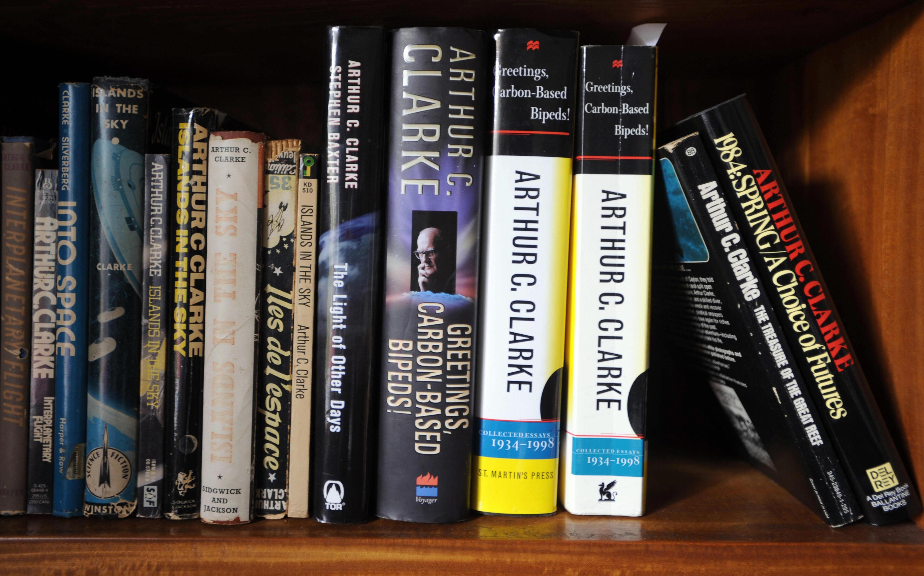 Books written by science fiction author Arthur C. Clarke