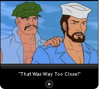 Click here for a video slide show of elaborate escapes from mortal danger in the original G.I. Joe cartoon.
