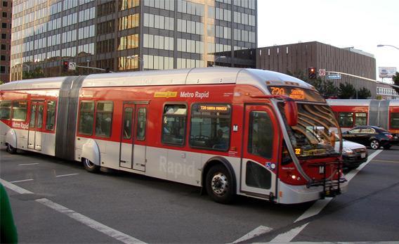 Los Angeles Rapid Bus taken on April 17, 2008 in Westwood, CA.