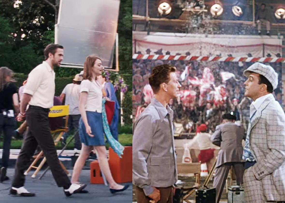 Left: La La Land. Right: Singin' in the Rain.