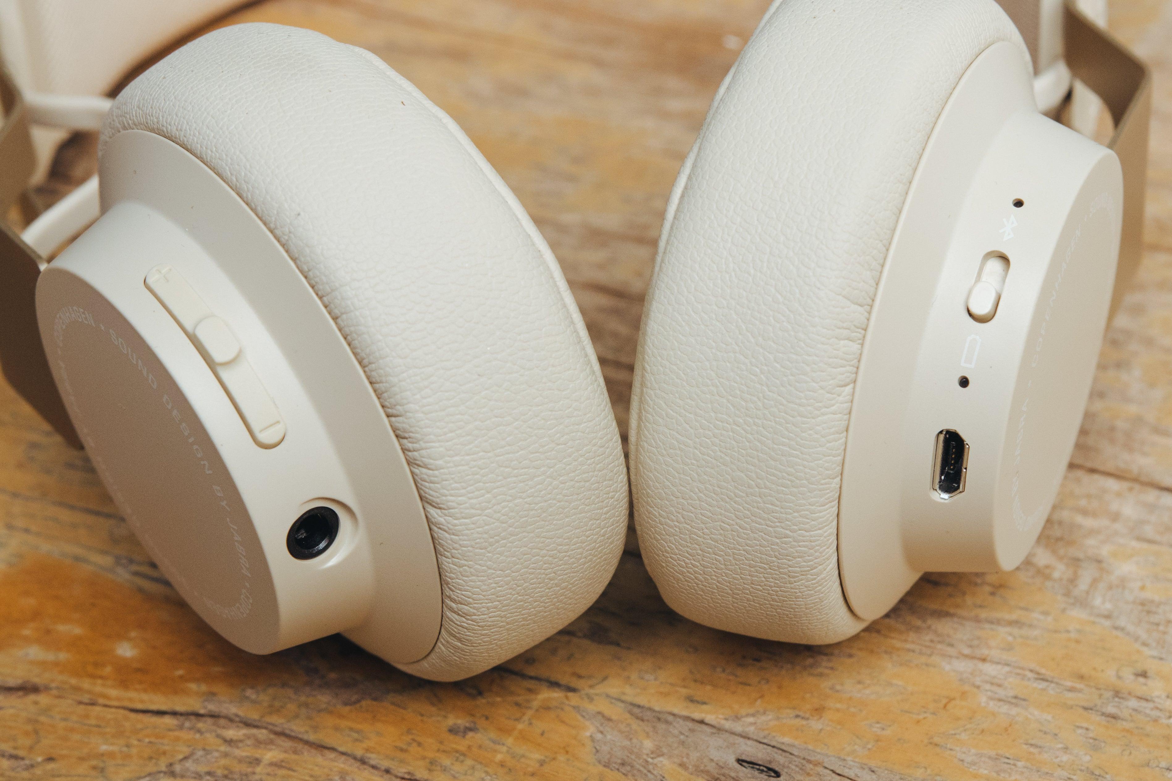 close up of Jabra headphones