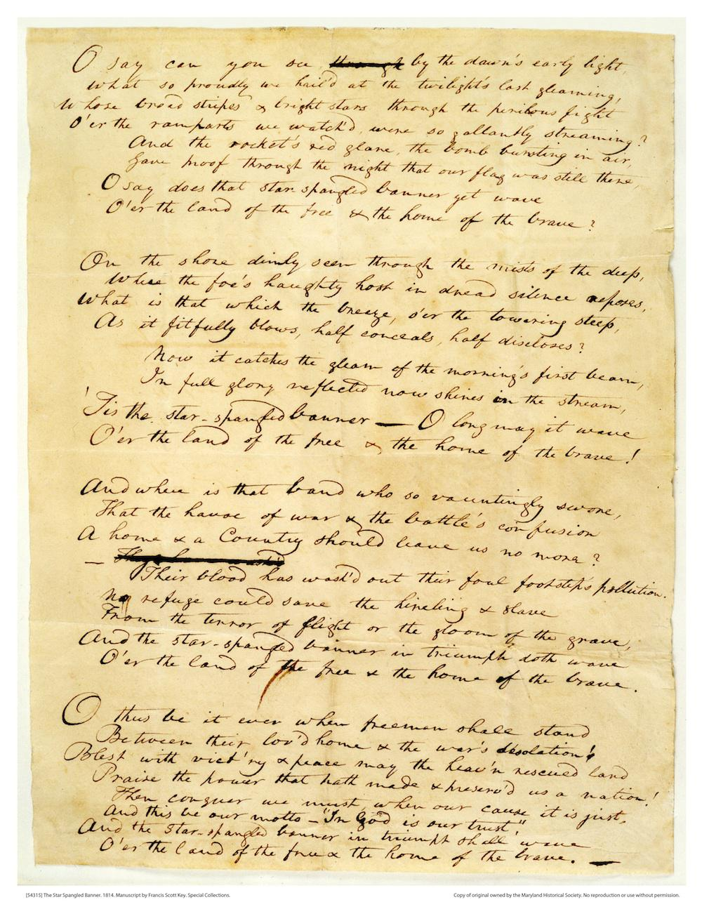 [54315] The Star Spangled Banner 1814 by Francis Scott Key