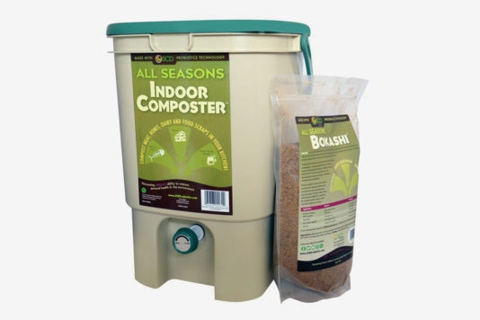 SCD Probiotics All Seasons Indoor Composter Kit With Bokashi.