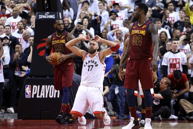 ac63e35c84a Cavs beats Raptors in Game 1 of 2018 Eastern Conference semifinals.