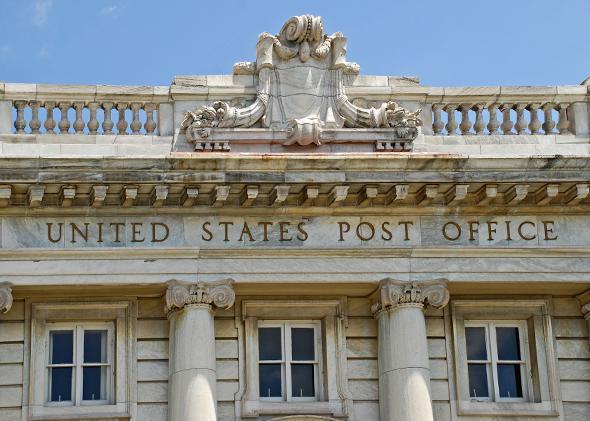 A U.S. post office.