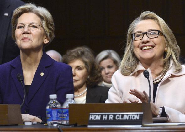 Elizabeth Warren, Hillary Clinton