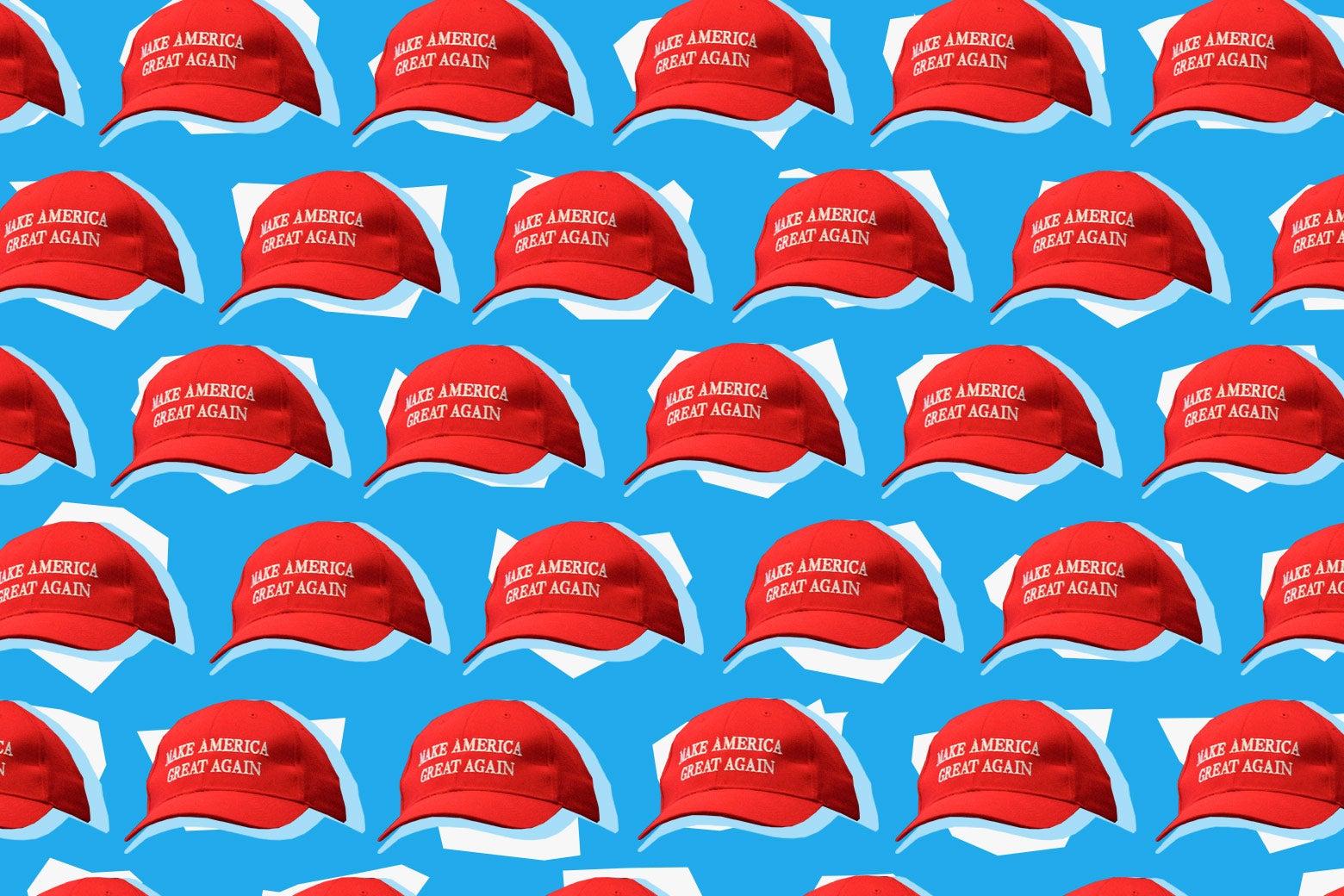 Red MAGA hats