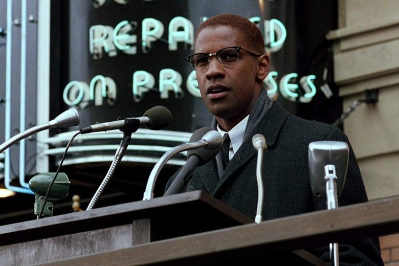 Denzel Washington in Malcolm X.