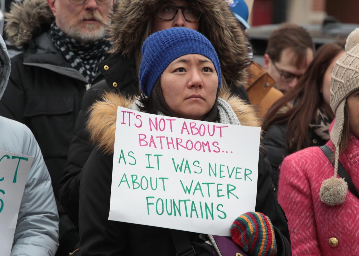 Bathroom predator myth defeats transgender rights in New Hampshire.