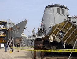 The wreckage of the Cheonan. Click image to expand.