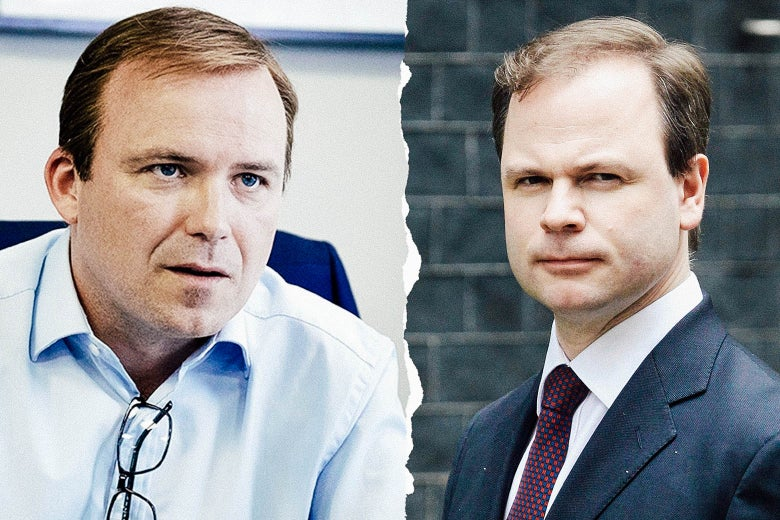 Rory Kinnear as Craig Oliver, and the real Craig Oliver.