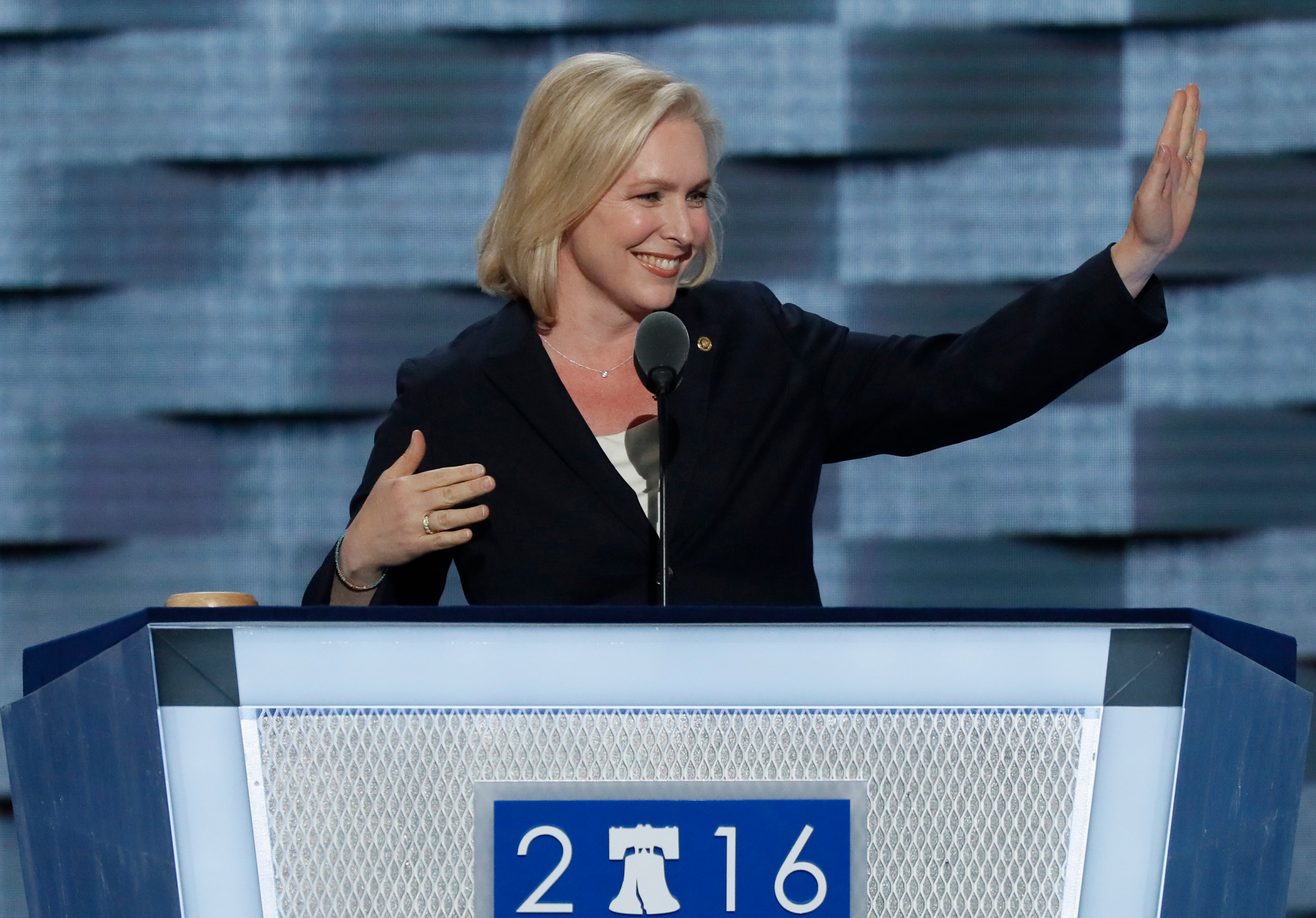 New York Sen. Kirsten Gillibrand at the Democratic National Convention in Philadelphia.
