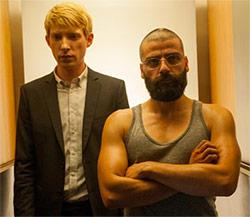 Oscar Isaac and Domhnall Gleeson in Ex Machina