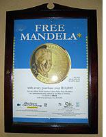 "A ""Free Mandela"" poster. Click image to expand."