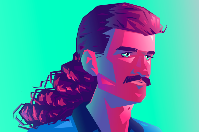 A man with a mullet