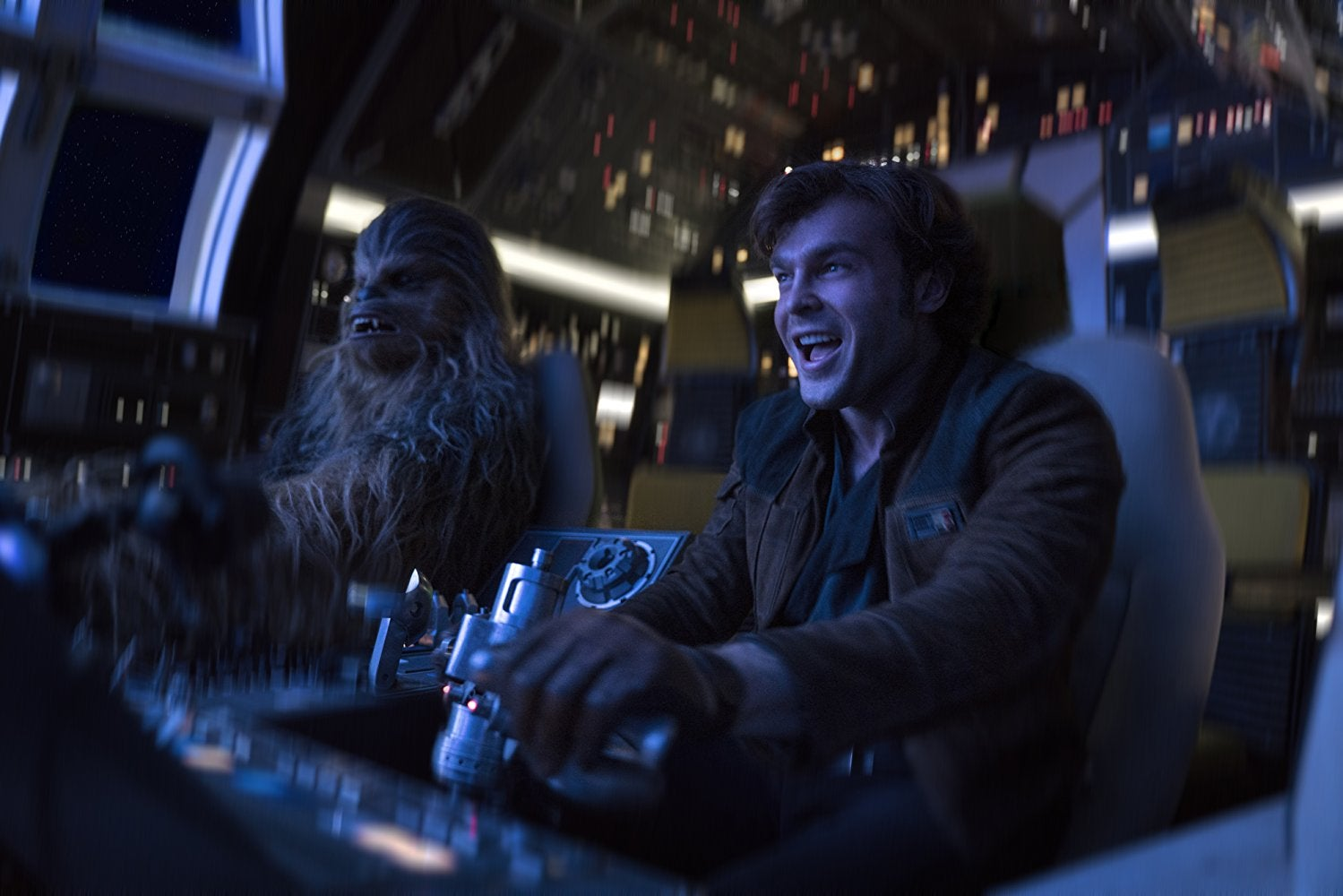 Han Solo and Chewbacca in Solo: A Star Wars Story