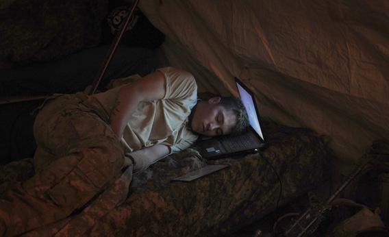 US Soldier Asleep.