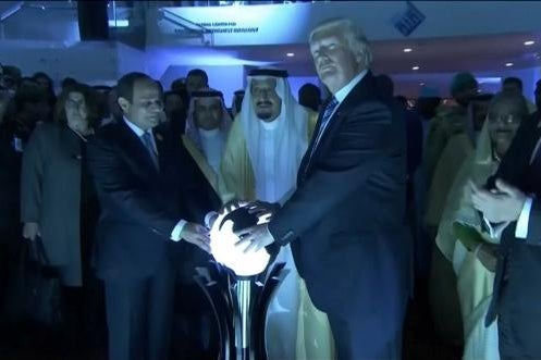 Donald Trump at the Global Center for Combatting Extremist Ideology in Riyadh, Saudi Arabia on May 21.