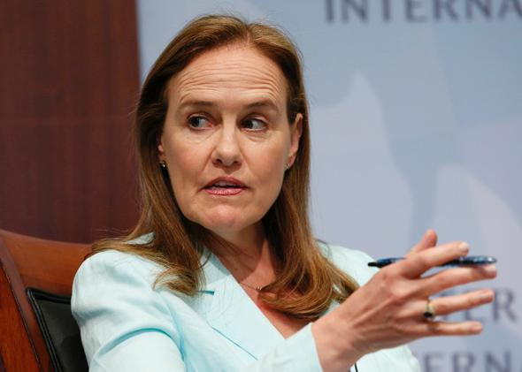 Michèle Flournoy participates in a panel discussion at the Center for Strategic and International Studies in Washington, D.C., on June 2, 2014