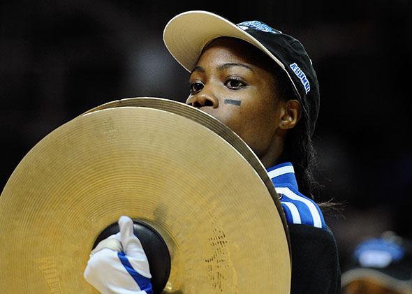 A member of the Cheyney University drumline.