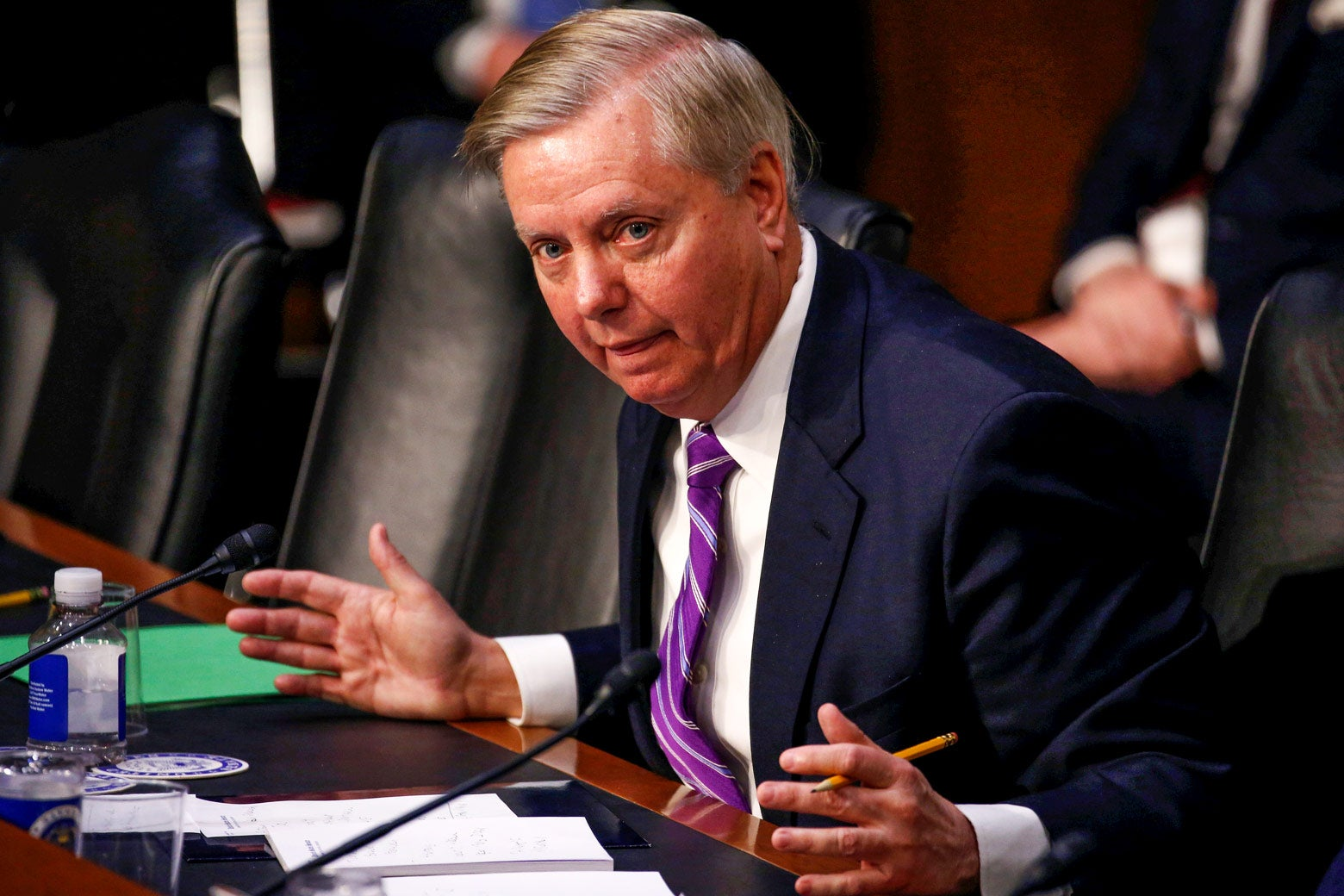 Lindsey Graham at a Capitol Hill hearing.