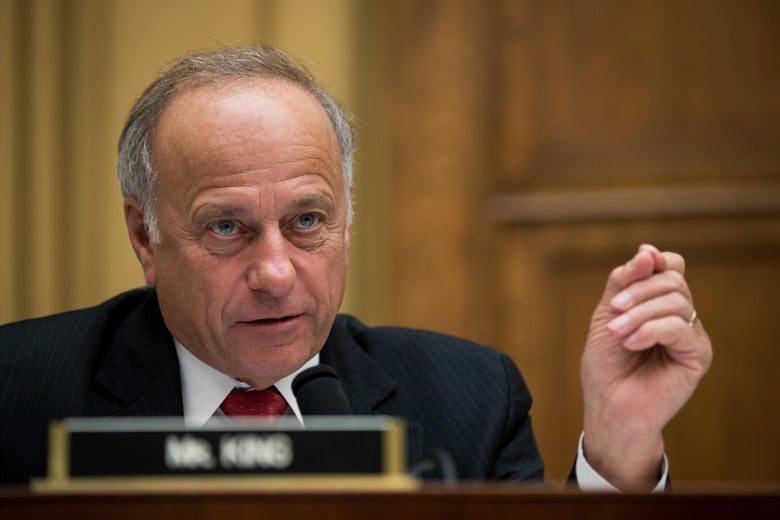 """Rep. Steve King speaks at a committee hearing """"srcset ="""" https://compote.slate.com/images/f975b0d7-cbc0-4511-b552-d987ea3a887d.jpeg?width=780&height=520&rect=5036x3357&offset=0x0 1x, https: // compote.slate.com/images/f975b0d7-cbc0-4511-b552-d987ea3a887d.jpeg?width=780&height=520&rect=5036x3357&offset=0x0 2x"""