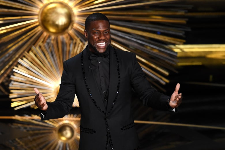 Kevin Hart onstage at the 2016 Oscars.