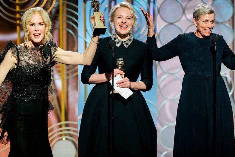 Nicole Kidman, Elisabeth Moss, Frances McDormand.