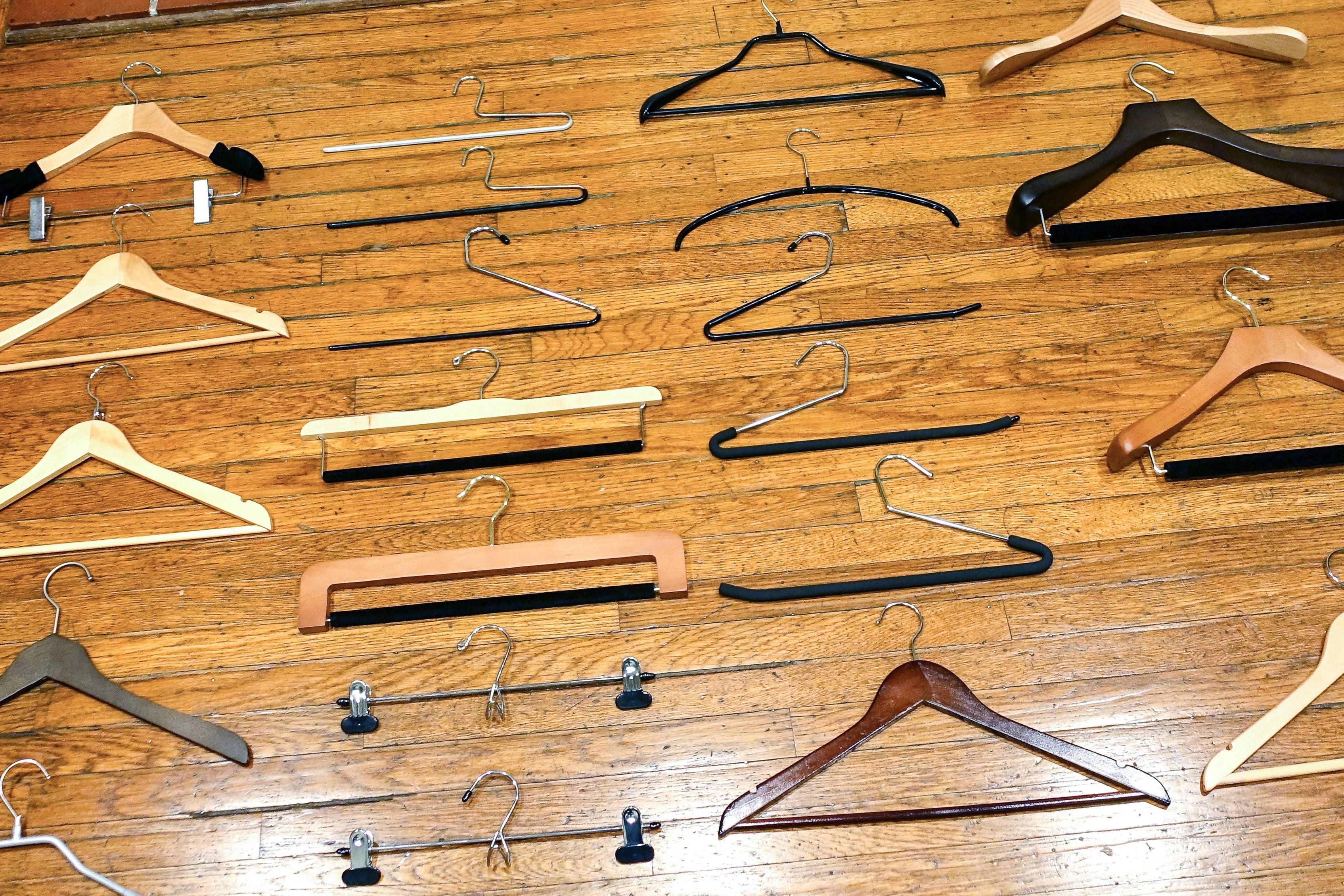 assortment of hangers