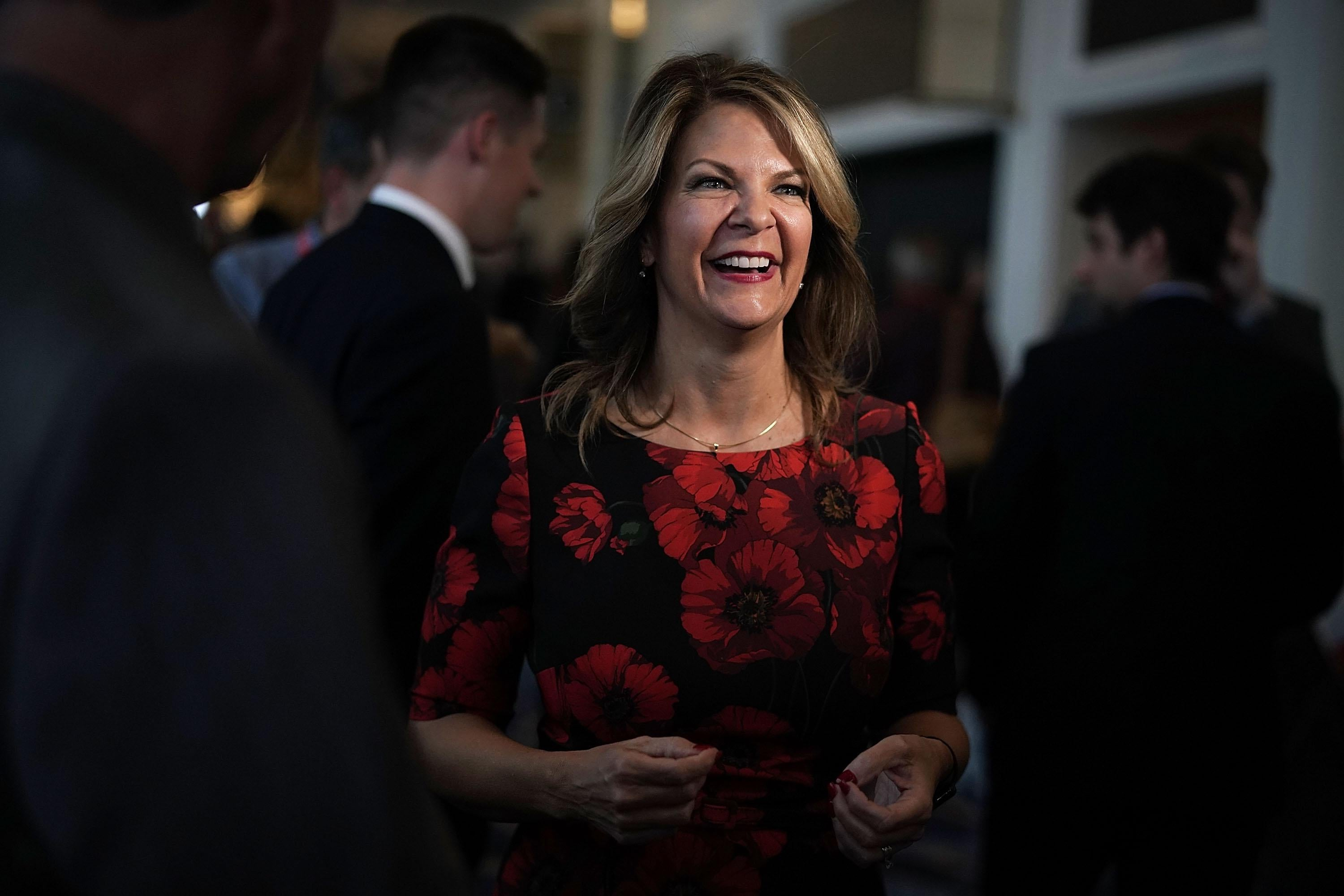 Kelli Ward in a crowd of people.