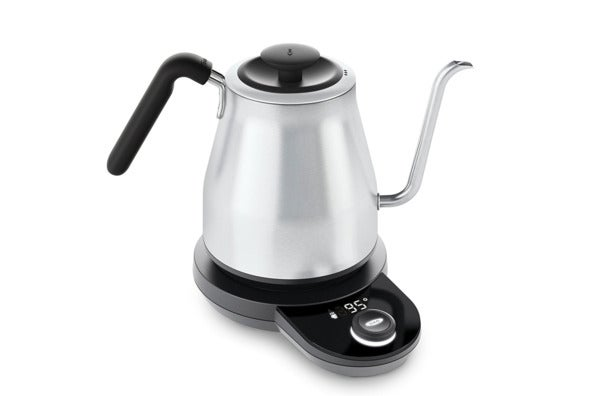 OXO On Adjustable Temperature Electric Pour Over Kettle.
