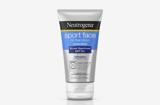 Neutrogena Ultimate Sport Face Oil-Free Lotion Sunscreen.
