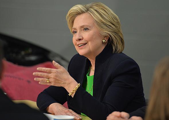 Hillary Rodham Clinton in Monticello, Iowa