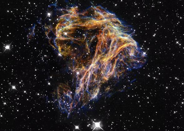 "Image dubbed ""Celestial Fireworks"" taken by the Wide Field Planetary Camera 2 from the Hubble Space Telescope."