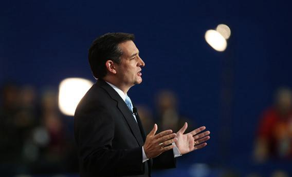 Ted Cruz speaking during the Republican National Convention.