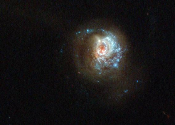 A swirl of star formation
