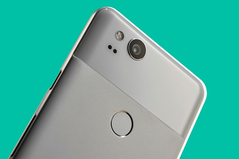 The 12-megapixel camera on a Google Pixel 2.