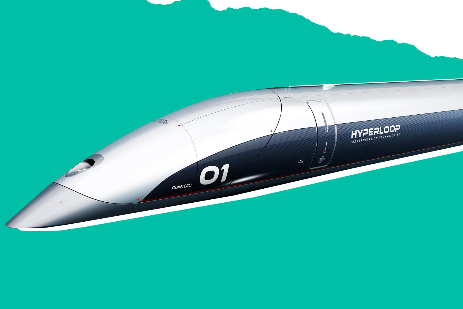 A Hyperloop capsule passenger car.