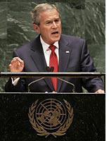 President Bush addresses the United Nations          Click image to expand.
