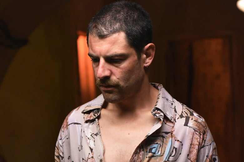 """Max Greenfield as """"Ronnie."""""""