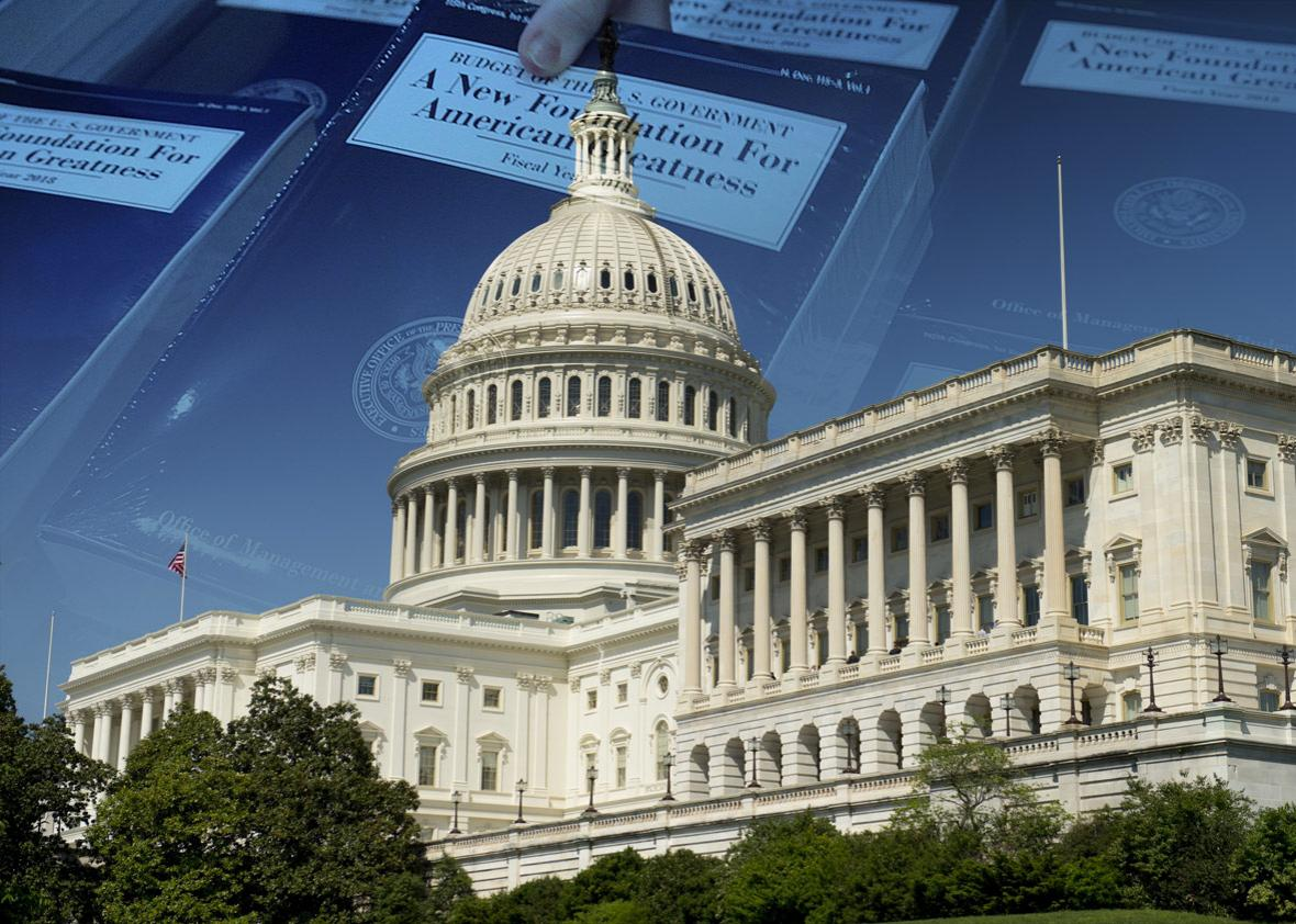 Photo illustration by Slate. Photos by Alex Wong/Getty Images and Saul Loeb/AFP/Getty Images.