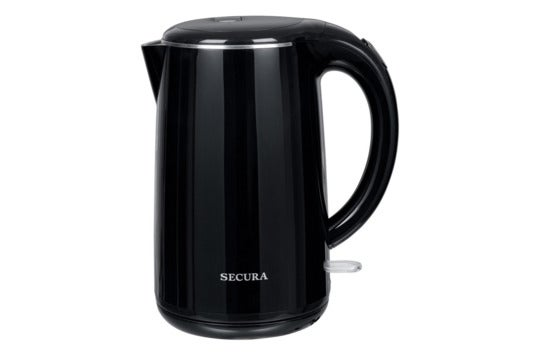 Secura black stainless steel kettle.