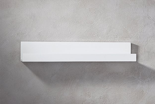 CB2 Piano White Wall Shelves