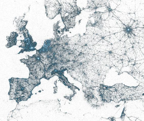 Twitter map of Europe