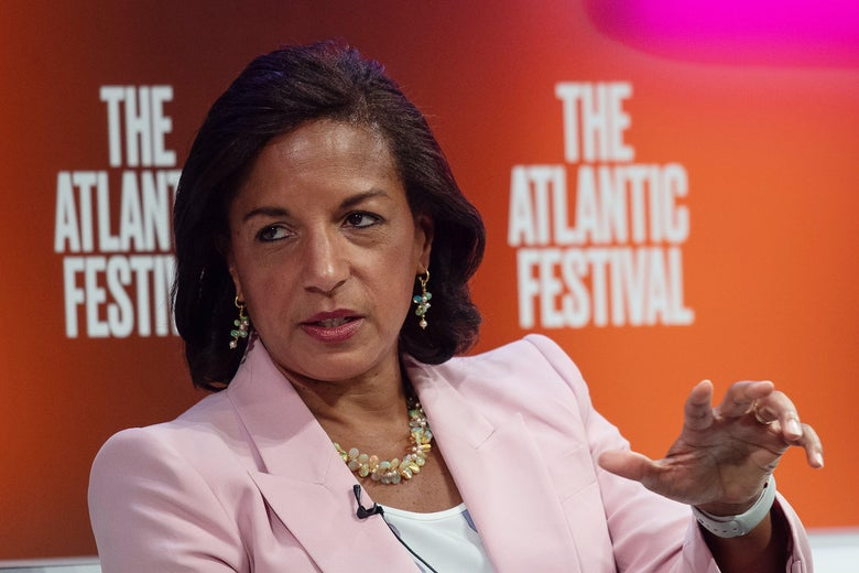 Former National Security Advisor Susan Rice speaks at the Atlantic Festival in Washington, D.C. on September 25, 2019.